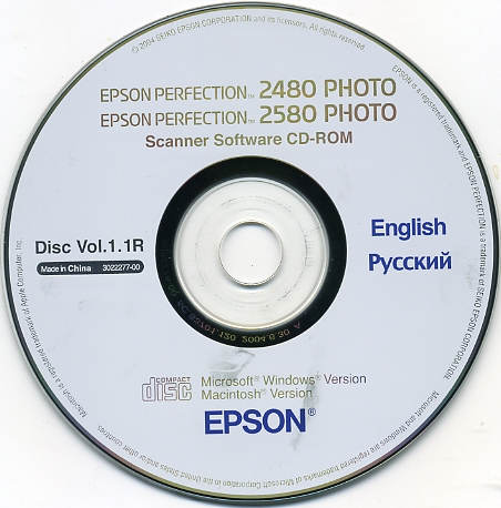 Epson 2480 драйвера